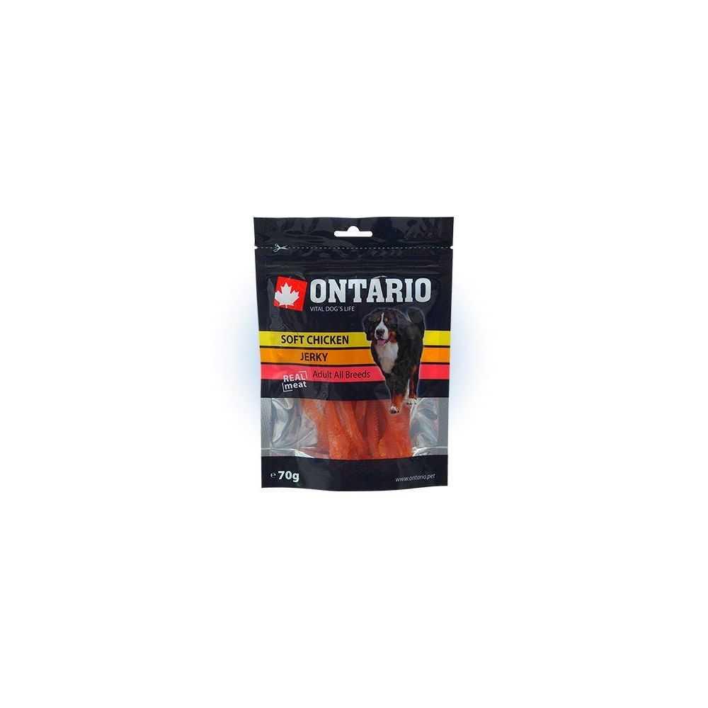 Ontario Soft Chicken Jerky - skanėstai šunims 70 g