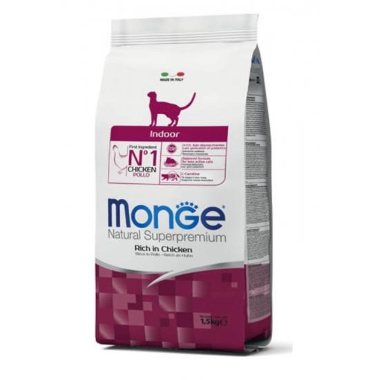 MONGE Indoor sausas maistas katėms 10kg