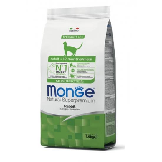 Monge Monoprotein Rabbit sausas maistas katėms 1.5kg