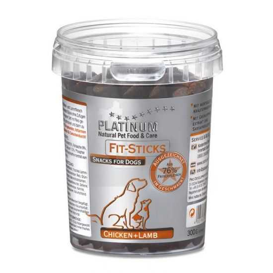 PLATINUM skanėstas šunims su vištiena ir ėriena 300 gr