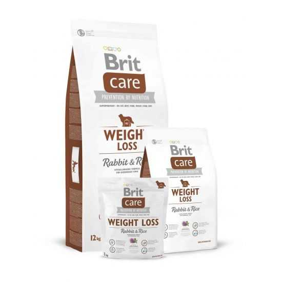 Brit Care Weight Loss Rabbit and Rice sausas maistas šunims 3kg 12kg
