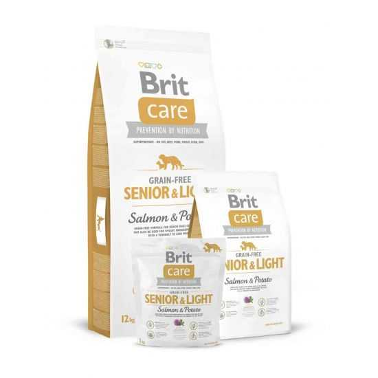 Brit Care Grain-free Senior Salmon & Potato sausas maistas šunims 3kg 12kg