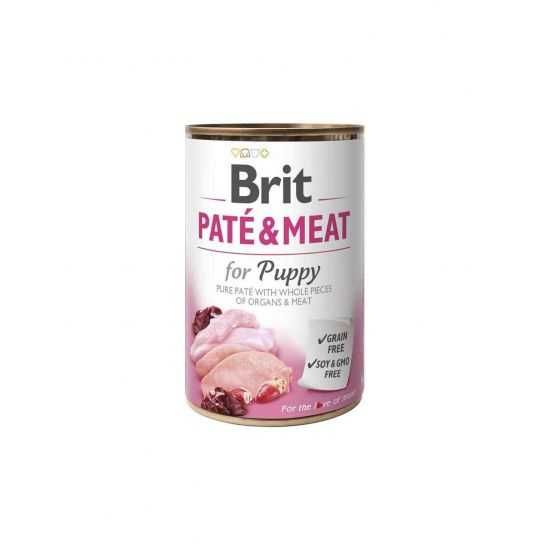 Brit Care Boutiques Gourmandes Chicken&Turkey for Puppy Pate & Meat konservai šuniukams 400gr