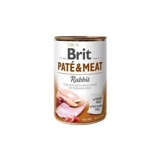 Brit Care Boutiques Gourmandes Rabbit Pate & Meat konservai šunims 400gr