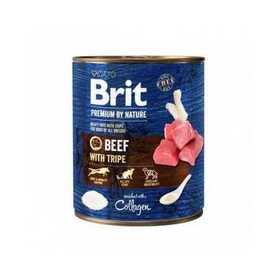 Brit Premium by Nature konservai šunims su jautiena ir žarnokais 800gr