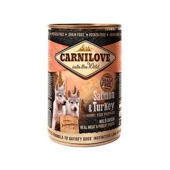 Carni Love Wild Meat Salmon & Turkey for Puppies konservai šuniukams 400gr