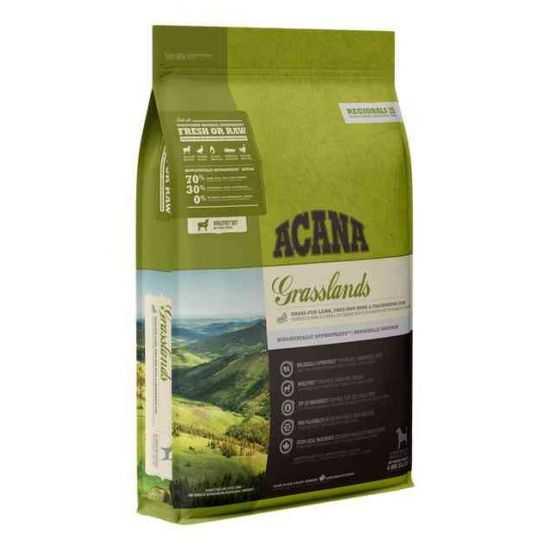 Acana Grasslands Dog sausas maistas be grūdų šunims 2kg ir 11.4kg
