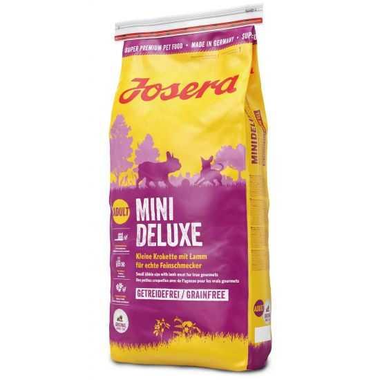Josera Mini Deluxe sausas maistas jautriems, mažų veislių šunims su ėriena 15kg