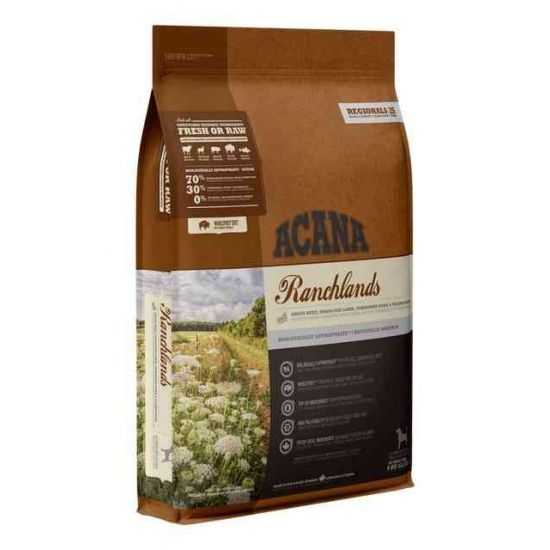 Acana Ranchlands Dog sausas maistas be grūdų šunims 2kg ir 11.4kg