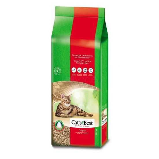 Kačių kraikas, natūralus, Cat's Best Original 17.2 kg - 40l