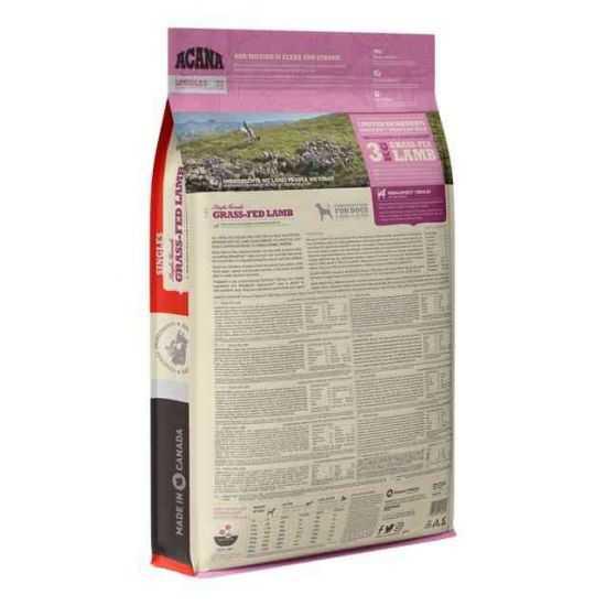 Acana Grass-Fed Lamb Dog sausas maistas be grūdų šunims 2kg 11.4kg 17kg