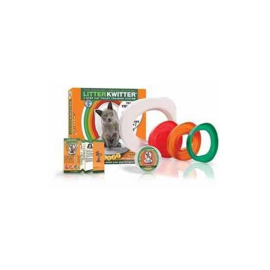 Originali 3 žingsnių kačių tualeto mokymo sistema Litter Kwitter