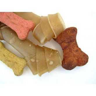 Kaulai šunims, susukta oda skanėstai - skanukai | Alphazoo.lt